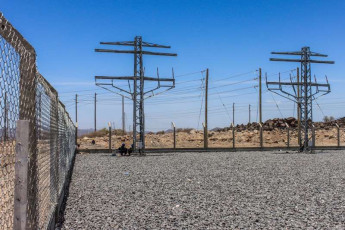 Site OHL connecting to substation
