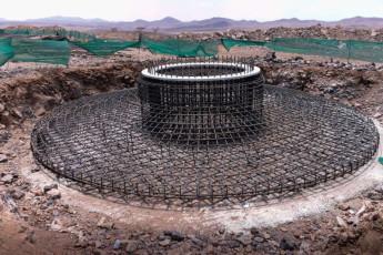 Reinforcement bars of foundation