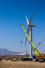 Wind turbine installation works 2