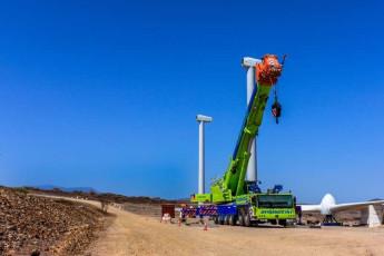 Wind turbine installation works 3