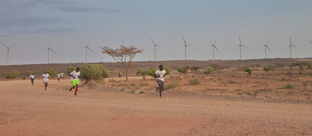 Moses Lekuraa wins the second 10km annual Lake Turkana Wind Power Winds of Change Road Race!